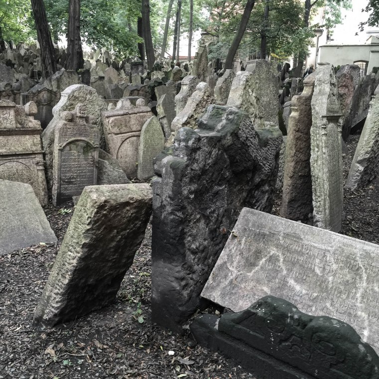 The old jewish cemetary in Prague was in use from the 13th century until the 18th. There are 10,000 graves chock-ablock