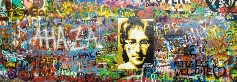 The Lennon Wall in Prague