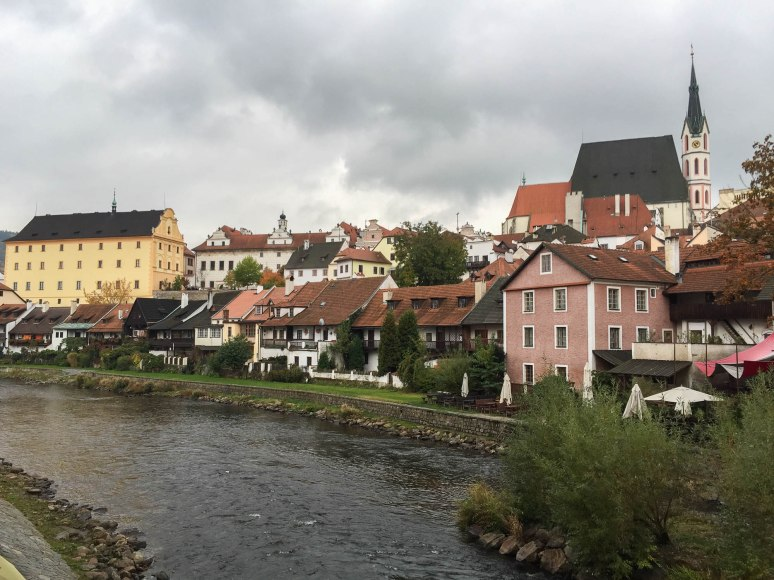 A view of the ancient Bavarian town of Cesky Kumlov.