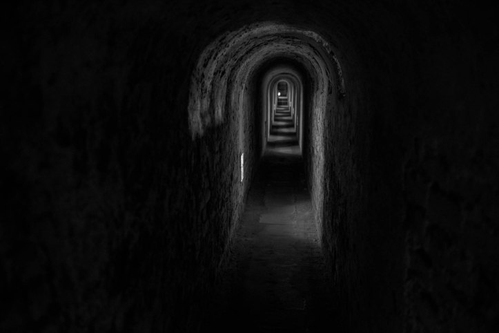 There are 30 km of tunnels in the prison fortress